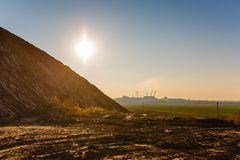 Modern ecological problem. Air and soil pollution stock photography