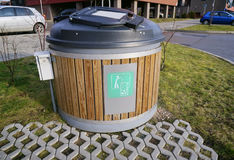 Modern  ecological trash bin Royalty Free Stock Images