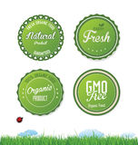 Modern ecology badges collection. Isolated on white background Stock Photography