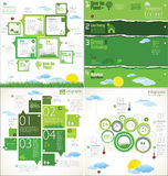 Modern ecology infographic Design Layout Stock Photos