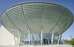 Modern edifice that resembles a UFO Royalty Free Stock Photo