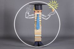 A modern educated intelligent Vitruvian man, beyond the scope of Royalty Free Stock Image