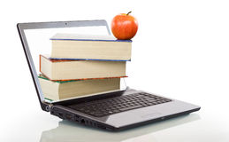 Modern education and online learning. Concept - isolated Royalty Free Stock Images