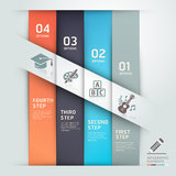 Modern education template origami style. Stock Image