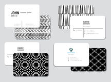Modern eenvoudig adreskaartjemalplaatje Stock Afbeelding