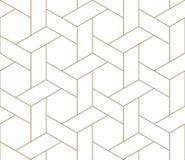 Modern eenvoudig geometrisch vector naadloos patroon met gouden lijntextuur op witte achtergrond Licht abstract behang royalty-vrije illustratie