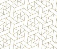 Modern eenvoudig geometrisch vector naadloos patroon met gouden lijntextuur op witte achtergrond Licht abstract behang vector illustratie