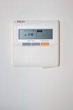 Modern efficient programming thermostat royalty free stock photo