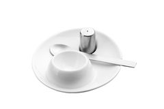 Modern egg cup set Royalty Free Stock Image