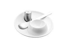 Modern egg cup set Royalty Free Stock Images