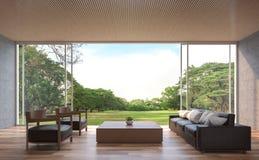 Modern eigentijds woonkamer 3d teruggevend beeld vector illustratie