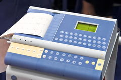 Modern EKG Machine. Detail Royalty Free Stock Images