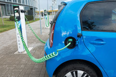Modern electric car charging Stock Photography
