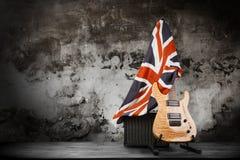 Modern electric guitar Royalty Free Stock Photo