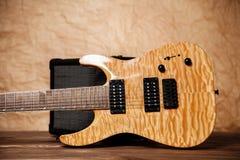 Modern electric guitar Stock Photos
