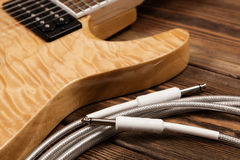 Modern electric guitar Royalty Free Stock Photo