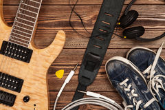 Modern electric guitar Stock Photo