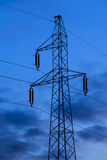 Modern electric high voltage tower. Stock Image