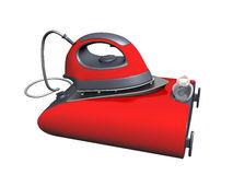 Modern electric iron and stand Royalty Free Stock Photo