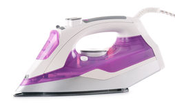 Modern electric iron on white Stock Photography