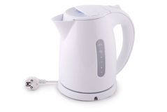 Modern electric kettle (Clipping path) Stock Photos