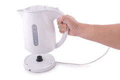 Modern electric kettle (Clipping path) Royalty Free Stock Photography