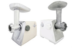 Modern electric meat grinder Royalty Free Stock Photos