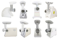 Modern electric meat grinder Royalty Free Stock Image
