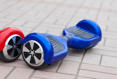 Modern electric mini segway hover board scooter Royalty Free Stock Image