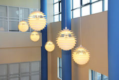Modern electric sphere lamps Royalty Free Stock Photos