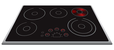 Modern electric stove Stock Photos