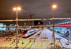 Modern Electric Train Royalty Free Stock Images
