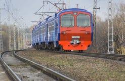 Modern electric train Stock Photos
