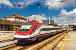 Modern electric train at Porto-Campanha station Stock Photos