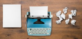 Old electric typewriter for novel with many failed attempts Royalty Free Stock Photo