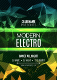 Modern Electro Music Party Template, Dance Party Flyer, brochure. Night Party Club Banner Poster. Modern Electro Music Party Template, Dance Party Flyer Stock Photos