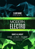 Modern Electro Music Party Template, Dance Party Flyer, brochure. Night Party Club Banner Poster. Modern Electro Music Party Template, Dance Party Flyer stock illustration
