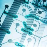 Modern electronic circuit Royalty Free Stock Image