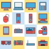Modern electronic icons Royalty Free Stock Photo