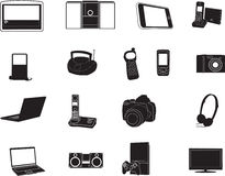 Modern electronic silhouettes royalty free stock images