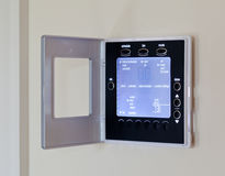Modern electronic thermostat royalty free stock photos
