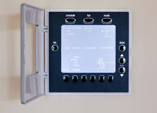 Modern electronic thermostat Royalty Free Stock Image