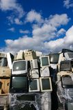 Modern electronic waste Stock Photo