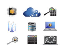 modern electronics concept icon set Stock Photos