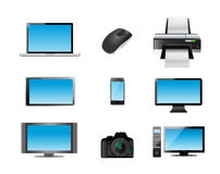 modern electronics icon set illustration Royalty Free Stock Photo
