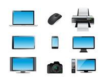Modern electronics icon set illustration. Design over white Royalty Free Stock Photo