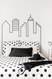 Modern elegance in bedroom Royalty Free Stock Images
