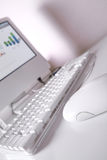 Modern elegance white workplace. royalty free stock photo