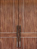 Modern Elegance Wood Door Stock Photo