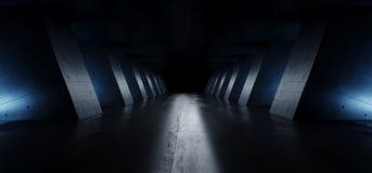 Free Modern Elegant Architecture Grunge Concrete Columns Cement Reflective Underground Hallway Room Garage Gallery Tunnel Corridor Dark Stock Photo - 153877250